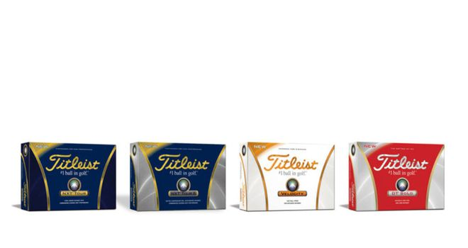 The new 2012 range of Titleist golf balls