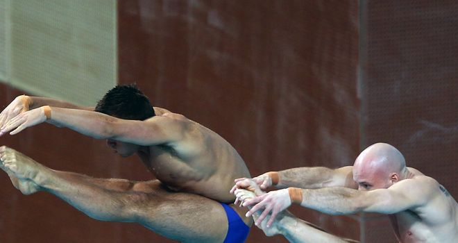 Tom Daley and Peter Waterfield: missed out on a medal