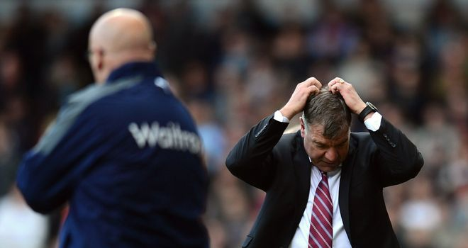 Sam Allardyce: Appears to be feeling the pressure amid slump in form