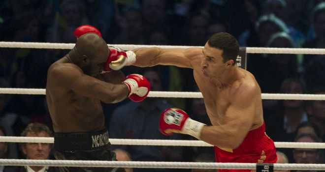 Wladimir Klitschko (R): Enjoyed an easy world title defence against Jean-Marc Mormeck