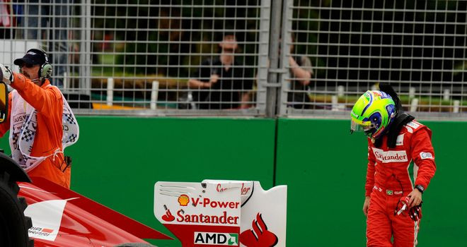 Felipe Massa: forced to retire in Melbourne