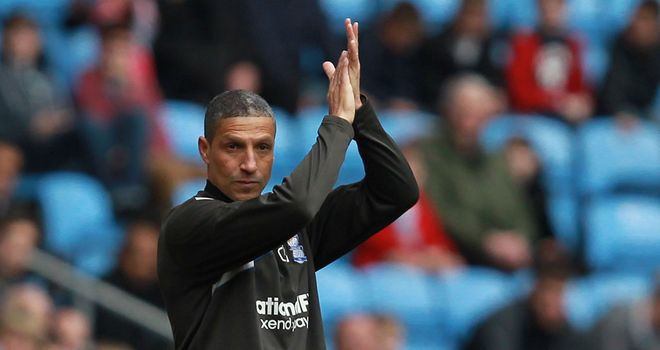 Chris Hughton: Has refused to be drawn on possibility of succeeding Hodgson at West Brom
