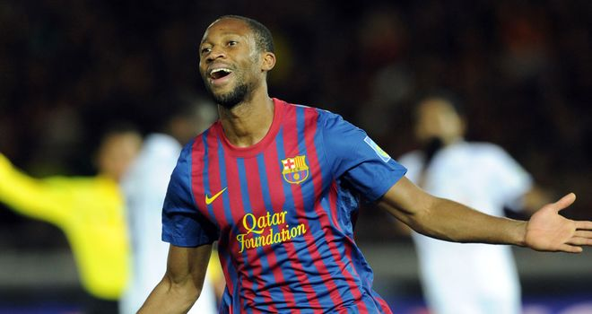 Seydou Keita: Faces fierce competition for places at Camp Nou