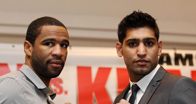 Amir Khan (R): Fights Peterson again next month