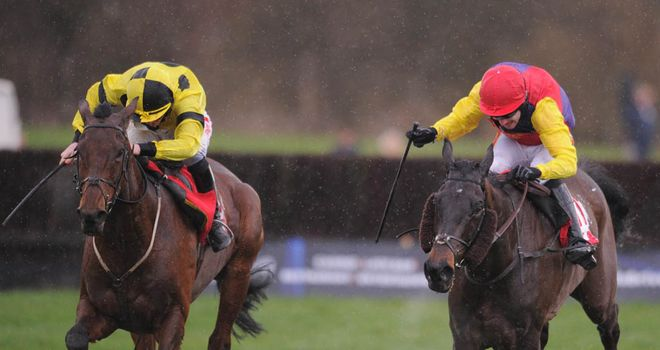 Master Overseer (right): Battled on well at Cheltenham