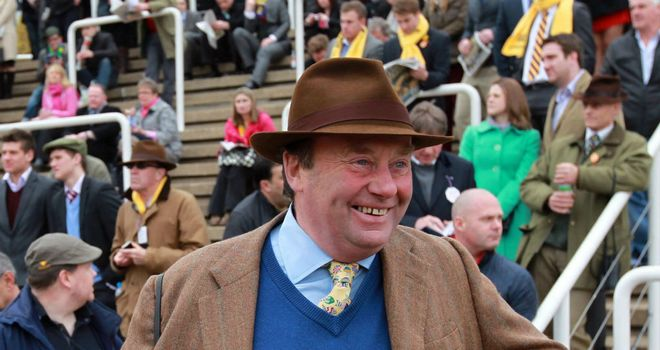 Nicky Henderson: Saddles four runners in Saturday's Ladbroke