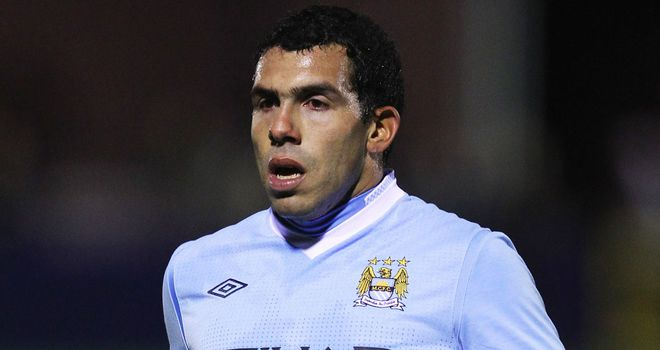 Carlos Tevez: Manchester City striker is expected to make his comeback against Chelsea