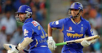 Ajinkya Rahane and Rahul Dravid: Royals openers compiled 108-run stand