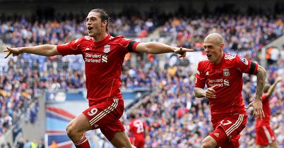 Carroll: Celebrates winning goal