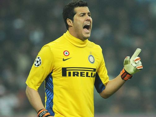 Julio Cesar: Looks set to leave the San Siro