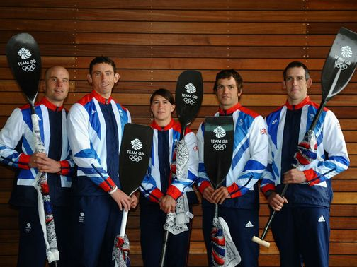 Team GB: The slalom canoe team for London 2012.
