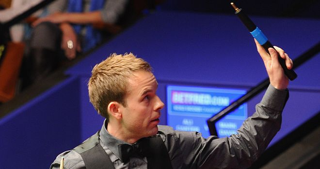 Ali Carter: Will face Judd Trump in the last 16 after quickfire win at the Crucible