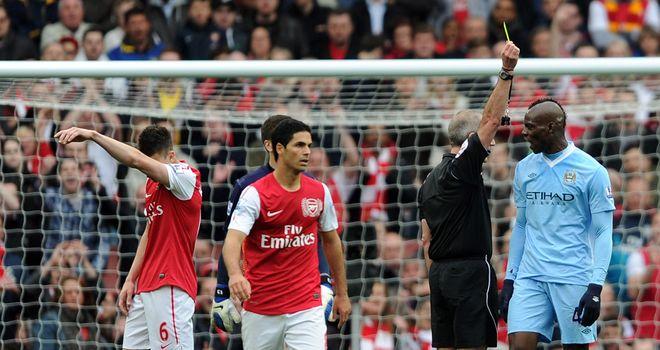 Mario Balotelli: Sent off in Arsenal defeat