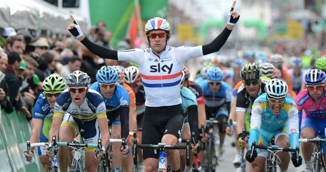 Bradley Wiggins: Pulled out a sensational sprint to take the victory in Switzerland