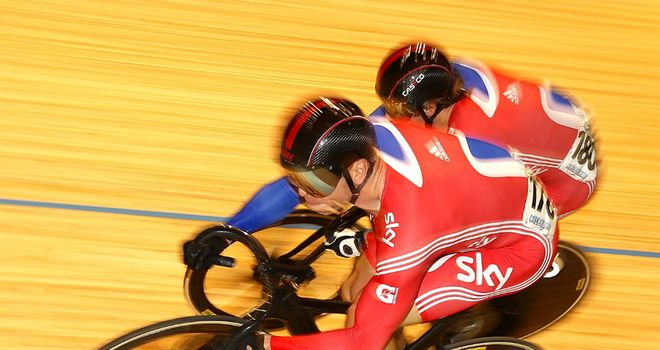 Sir Chris Hoy (front) and Jason Kenny: Gave their final audition for London 2012 on Saturday