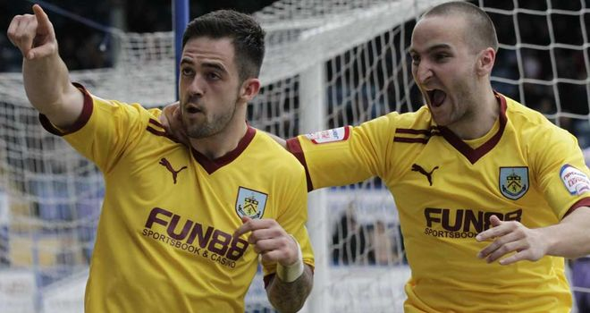 Ings (l): Opened the scoring for Burnley