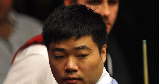Ding: on course for semi-final spot if he defeats Bingham