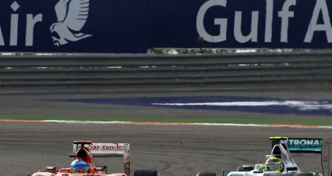 Alonso and Rosberg do battle