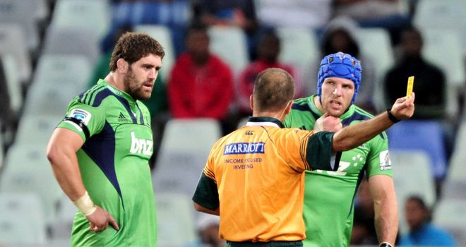 James Haskell: sin-binned during Highlanders win against Cheetahs