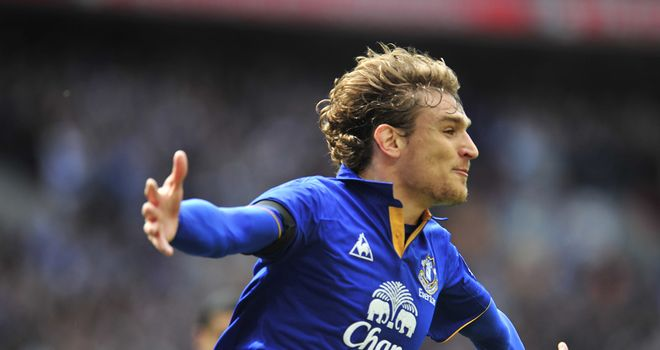 Nikica Jelavic: Scored six goals in three Premier League games for Everton in April