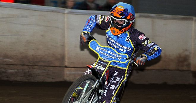 Mads Kornleliussen: Maximum came to nothing at Swindon (Pic credit Speedway365)