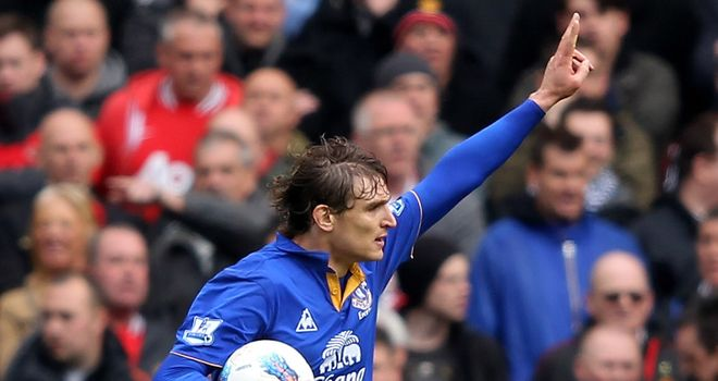 Nikica Jelavic: Goals make him the quickest Everton player for a century to reach double figures