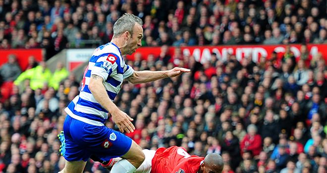 Shaun Derry: QPR captain was sent off after a foul on Manchester United winger Ashley Young