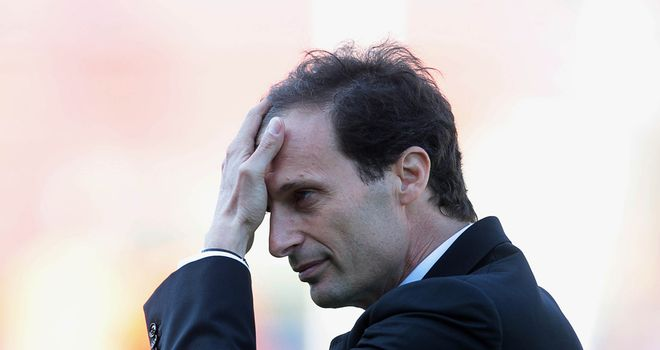 Massimiliano Allegri: AC Milan coach is under pressure following team&#39;s disappointing performances this season