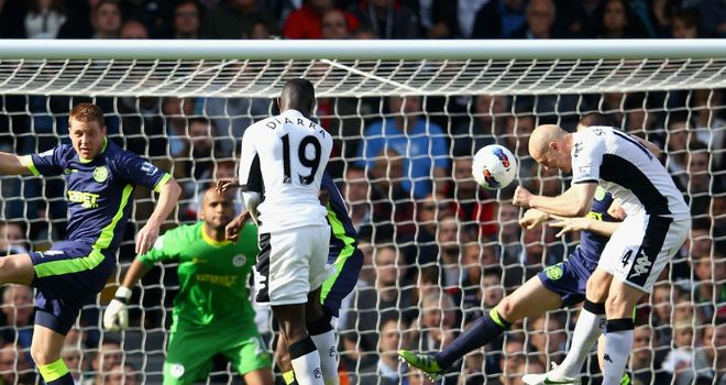 Philippe Senderos: Heads home the winner against Wigan