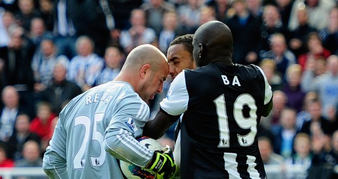 Pepe Reina: Goalkeeper sent off against Newcastle and will serve three-game ban