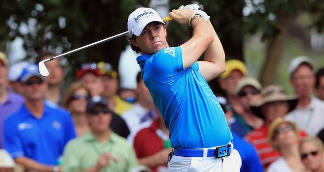 Rory McIlroy: produced a strong finish to round