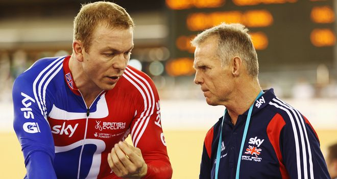 Shane Sutton pictured with Olympic champion Sir Chris Hoy
