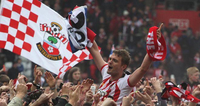 Jos Hooiveld: Celebrates Southampton promotion