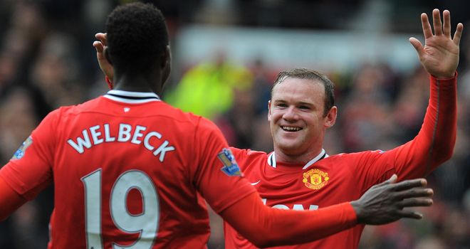 Danny Welbeck: Appreciates the support of Wayne Rooney on and off the field.