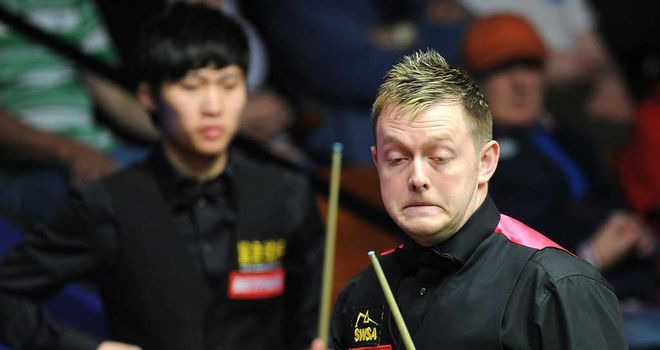 Mark Allen slips to defeat at the hands of Cao Yupeng