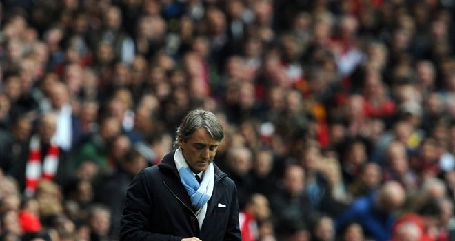 Roberto Mancini will have enjoyed better afternoons than that which he endured at the Emirates