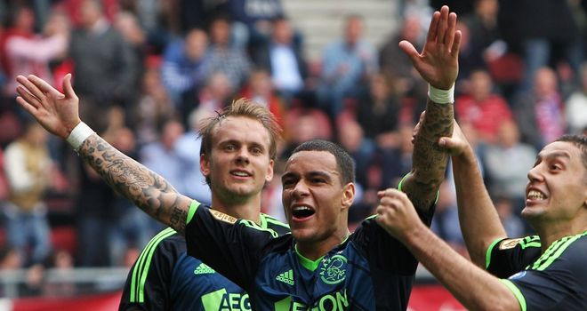 Gregory van der Wiel: Celebrates his winner