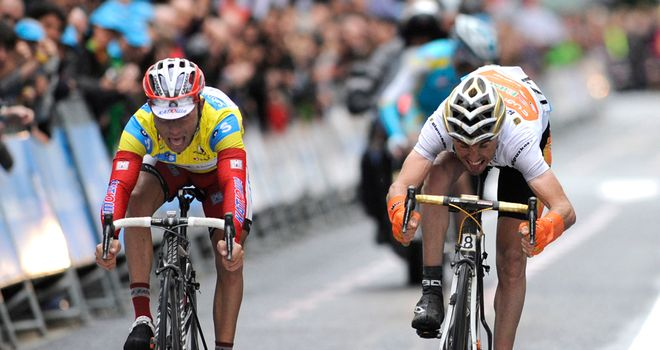 Joaquim Rodríguez: Just held off Samuel Sánchez in the sprint to the line