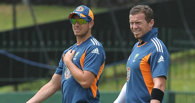 James Pattinson (left) and Peter Siddle: both returning home from West Indies early