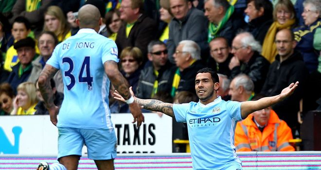 Carlos Tevez: Has made a starring return for City and Mancini admits he has been missed