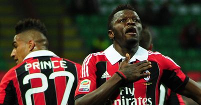 Sulley Muntari: Celebrated his first Champions League goal