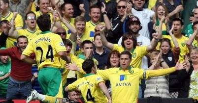 Holt: Celebrates his goal against Villa