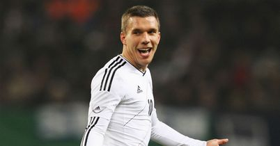 Lukas Podolski: Helped Germany to a 2-1 win over Holland