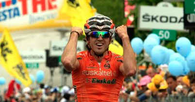 Izagirre: Celebrates his stage win