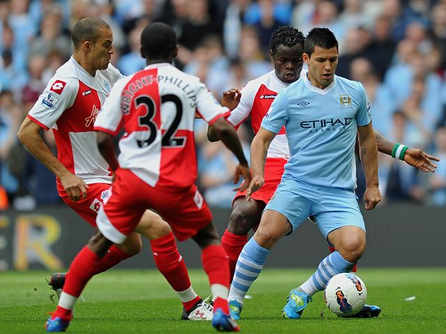 Aguero finds himself under pressure.