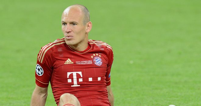 Arjen Robben: Sidelined for Bayern Munich through injury