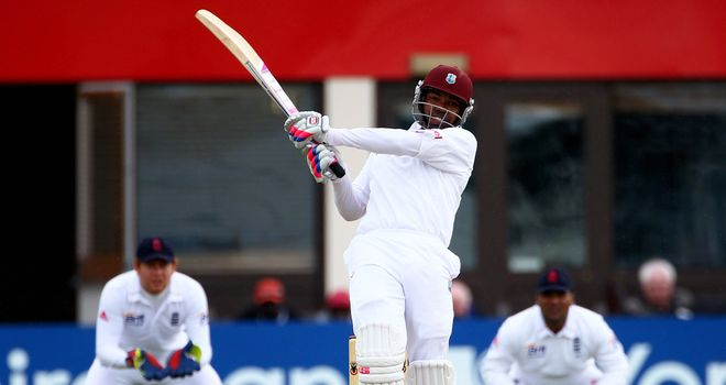 Shot-sure: Darren Bravo's strokeplay makes him one of England's chief targets