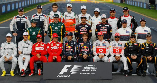 The drivers all want to beat their team-mates