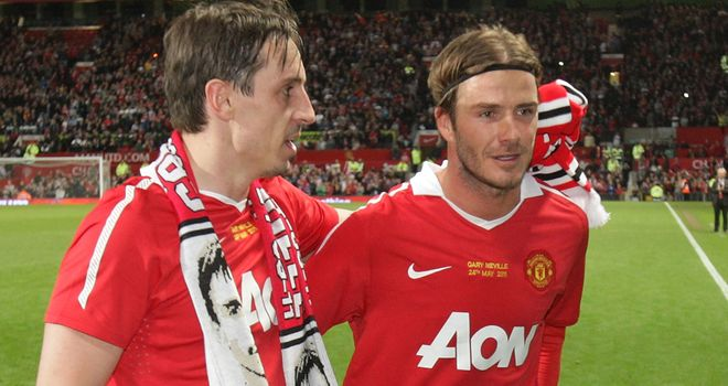 Gary Neville &amp; David Beckham: The pair have been good friends since playing together for Manchester United