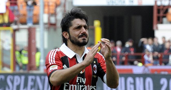 Gennaro Gattuso: Said farewell to Milan on Sunday